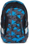 Satch Sleek Schulrucksack 45 cm blue triangle dreiecke blau