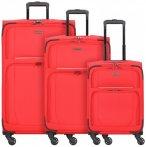 Travelite Garda 2.0 4-Rollen Kofferset 3tlg. rot grau, Gr. XL (71-80 cm)