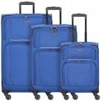Travelite Garda 2.0 4-Rollen Kofferset 3tlg. royal blau grau, Gr. XL (71-80 cm)