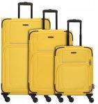 Travelite Garda 2.0 4-Rollen Kofferset 3tlg. gelb grau, Gr. XL (71-80 cm)