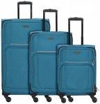 Travelite Garda 2.0 4-Rollen Kofferset 3tlg. petrol grau, Gr. XL (71-80 cm)
