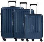 Travelite Uptown 4-Rollen Kofferset 3tlg. marine, Gr. XL (71-80 cm)