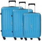 Travelite Uptown 4-Rollen Kofferset 3tlg. petrol, Gr. XL (71-80 cm)