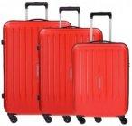 Travelite Uptown 4-Rollen Kofferset 3tlg. rot, Gr. XL (71-80 cm)
