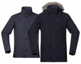 Bergans Aune 3in1 Jacket, dark navy/night blue, Größe L