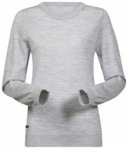 Bergans Fivel Wool Lady Long Sleeve, aluminium melange, Größe S