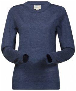 Bergans Fivel Wool Lady Long Sleeve, dusty blue melange, Größe XS
