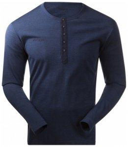 Bergans Henley Wool Shirt, navy melange, Größe XL