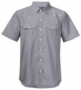 Bergans Justoy Shirt Short Sleeve, solid grey, Größe XL
