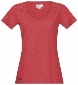 Bergans Sveve Wool Lady Tee, pale red/melange, Größe S