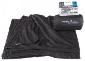 Cocoon Coolmax Travel Blanket, black, Größe 180x140cm