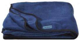 Cocoon Fleece Blanket / Fleecedecke, deep blue, Größe 200x160cm
