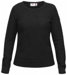 Fjällräven Övik Structure Sweater Women, dark grey, Größe L
