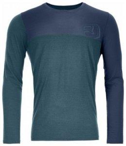 Ortovox Merino Cool Logo Long Sleeve Men, mid aqua, Größe M