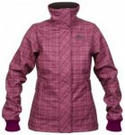 Bergans Mandal Lady Jacket, dark rose/light pink checked, Größe S