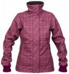Bergans Mandal Lady Jacket, dark rose/light pink checked, Größe S