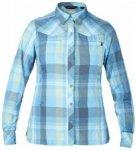 Berghaus Womens Explorer Eco LS Shirt, blue quartz big check Y91, Größe 10 UK