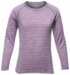 Devold Breeze Kid Shirt, peony stripes, Größe 8 (128 )