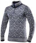 Devold Svalbard Sweater Zip-Neck, ink/grey, Größe M