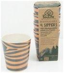 EcoSouLife Sipper Cup 4-teilig, zebraful, Größe 248 ml