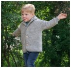 Engel Baby Jacke mit Kapuze Wollfleece, hellgrau melange, Gr��e 62/68