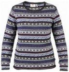 Fjällräven Övik Folk Knit Sweater Women, uncle blue, Größe L