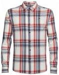 Icebreaker Compass LS Shirt, plaid fath hthr/rocket/bracken, Größe M