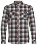 Icebreaker Lodge LS Flannel Shirt, saddle/nori hthr, Größe M