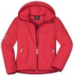 Jack Wolfskin Girls Turbulence Jacket, hibiscus red, Gr��e 140