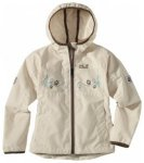 Jack Wolfskin Girls Windy Point Jacket, white sand, Gr��e 116