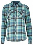 Marmot Womens Bridget Flannel Long Sleeve, moon river, Größe M