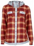 Marmot Womens Reagan Flannel Long Sleeve, madder red, Größe S
