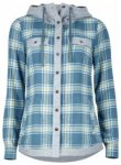 Marmot Womens Reagan Flannel Long Sleeve, moon river, Größe M