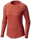 Mountain Hardwear Mighty Stripe Long Sleeve T Women, crab legs, Größe L