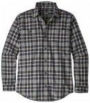 Patagonia Mens Longsleeve Pima Cotton Shirt, untamed feather grey UNFG, Gr�