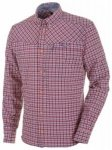SALEWA Fanes Check Dry Men L/S Shirt, M hotcoral/wash/snow, Größe S