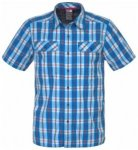 The North Face Mens Pine Knot Short Sleeve Shirt, drummer blue plaid H3S, Größ