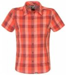 The North Face Womens Short Sleeve Boulder Penelope Woven, zinfandel red plaid L