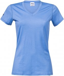 Bergans Damen Bloom Merino T-Shirt Blau XS