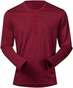 Bergans Herren Henley Wool Shirt Rot XL