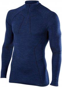 Falke Herren Wool Tech Zip Shirt Blau M