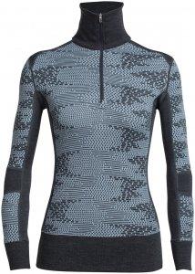 Icebreaker Damen Affinity Flurry Zip-Shirt Blau XL