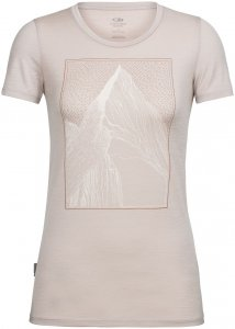 Icebreaker Damen Tech Lite Low Crewe At My Peak T-Shirt Beige L