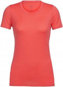 Icebreaker Damen Tech Lite Low Crewe T-Shirt Rot XS