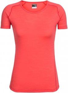 Icebreaker Damen Zeal Crewe T-Shirt Rot XL