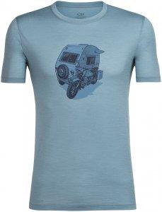 Icebreaker Herren Tech Lite Crewe Camper T-Shirt Blau S