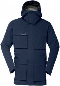 Norrona Herren Svalbard GTX Jacke Blau XL