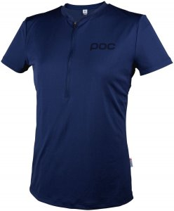 POC Damen Trail Light Zip Tee Radtrikot Blau M