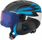 Alpina Kinder Carat LE Visor HM Skihelm (Blau)