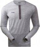 Bergans Herren Henley Wool Shirt Grau XL